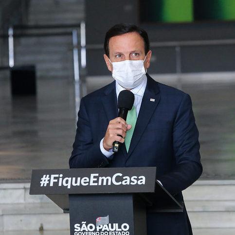 Governador João Doria confirma que está com Covid