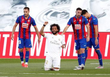 Marcelo marca pelo Real Madrid e protesta contra o racismo na Espanha