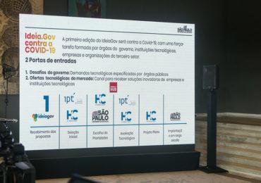 SP lança programa de incentivo à inovação contra o coronavírus