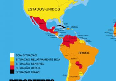 Brasil cai em ranking que avalia liberdade de expressão