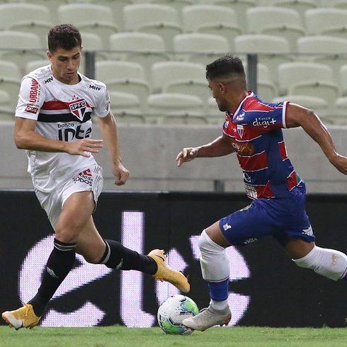 Fortaleza e São Paulo empatam em jogo com seis gols
