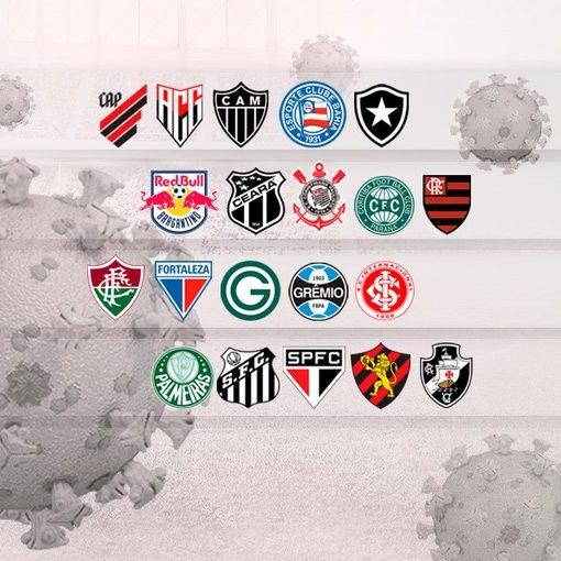 Clubes do Brasileirão sofrem com aumento de casos de Covid-19