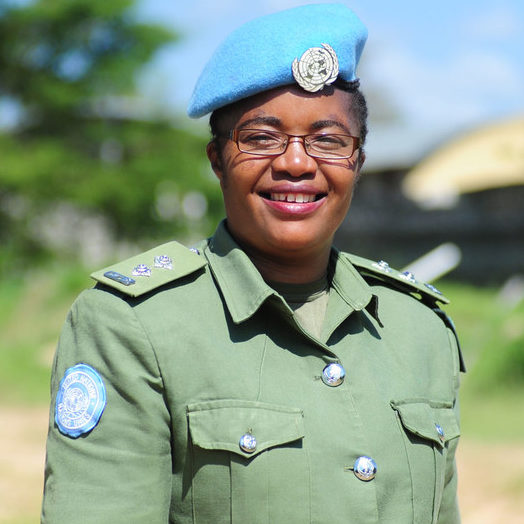 Boina-azul no Sudão do Sul ganha Prêmio da ONU para Policial Mulher