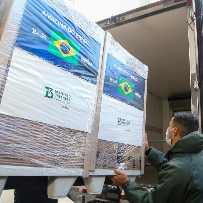 Butantan entrega mais 1 milhão de doses da CoronaVac