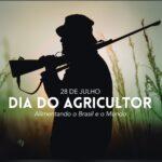 Governo homenageia dia do agricultor com foto de homem armado